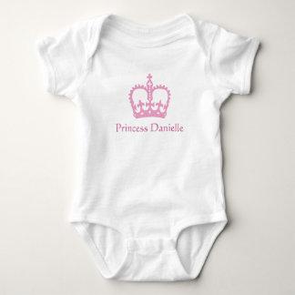 Princesa T-shirt Body Para Bebé