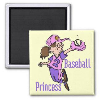 Princesa T-shirts y regalos del béisbol Iman Para Frigorífico