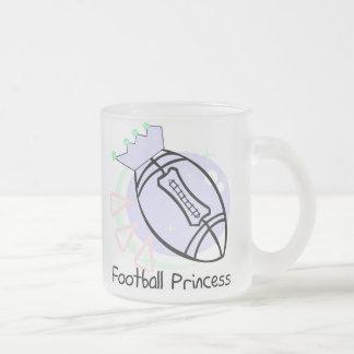 Princesa T-shirts y regalos del fútbol Taza De Cristal