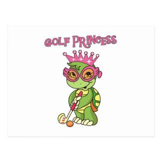 Princesa T-shirts y regalos del golf Tarjeta Postal