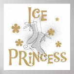 Princesa T-shirts y regalos del hielo Poster