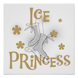 Princesa T-shirts y regalos del hielo Póster