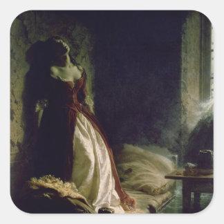 Princesa Tarakanova, 1864 Calcomanías Cuadradass