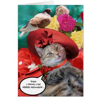PRINCESA TATUS, RED HAT DEL CAT DE LA CELEBRIDAD TARJETA DE FELICITACIÓN