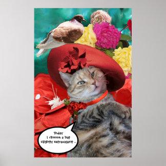PRINCESA TATUS WITH RED HAT Y PALOMA DEL CAT DE LA PÓSTER