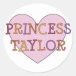 Princesa Taylor Pegatina Redonda
