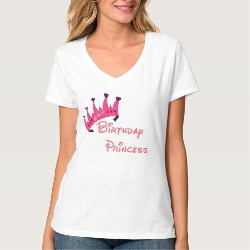 Princesa Tee del cumpleaños Playera