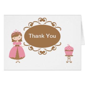 Princesa Thank You Card Felicitacion