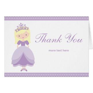 Princesa Thank You Card Tarjetón