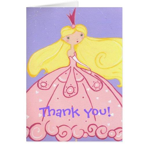 Princesa Thank You Card Tarjeta Pequeña