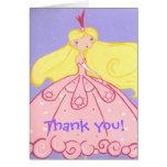 Princesa Thank You Card Tarjetas