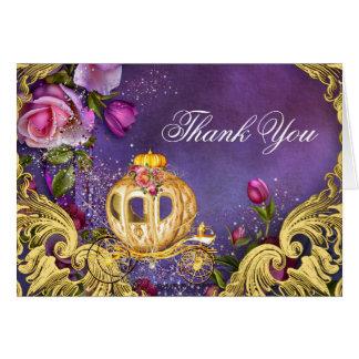 Princesa Thank You del cuento de hadas Tarjeta Pequeña