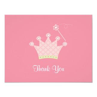 """Princesa Thank You Note Invitación 4.25"""" X 5.5"""""""