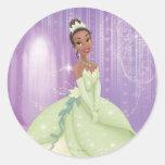 Princesa Tiana Etiquetas Redondas