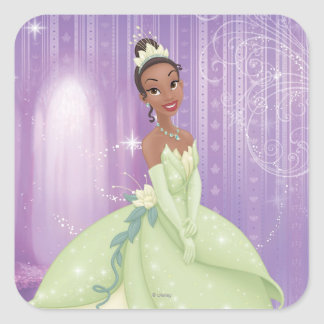Princesa Tiana Pegatina Cuadrada