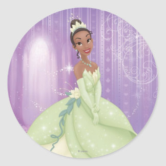 Princesa Tiana Pegatina Redonda