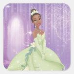 Princesa Tiana Pegatinas Cuadradas Personalizadas