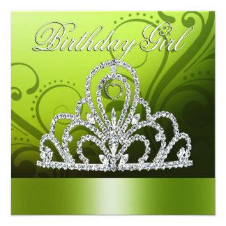 Princesa Tiara Birthday Girl (cal) Comunicados Personalizados
