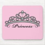 Princesa Tiara Mouseapad (fondo rosado) Mousepad