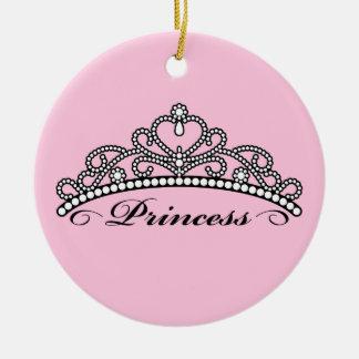 Princesa Tiara Ornament (fondo rosado) Ornatos