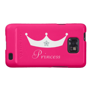 Princesa Tiara Personalized Pink Galaxy S2 Carcasas