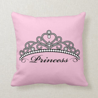 Princesa Tiara Pillow (fondo rosado) Cojín