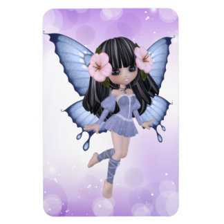 Princesa triguena Butterfly Magnet Imanes Rectangulares