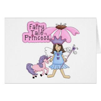 Princesa triguena del cuento de hadas tarjeta de felicitación