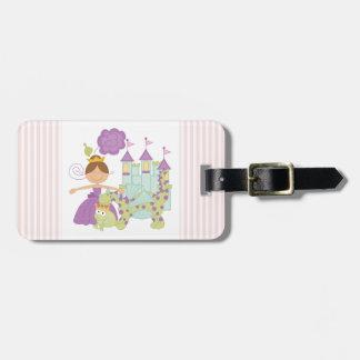 Princesa triguena etiqueta de equipaje