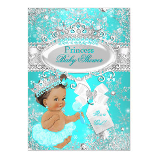 """Princesa triguena fiesta de bienvenida al bebé del invitación 5"""" x 7"""""""