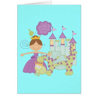 Princesa triguena tarjeta pequeña