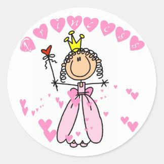 Princesa Tshirts y regalos del corazón Pegatina Redonda