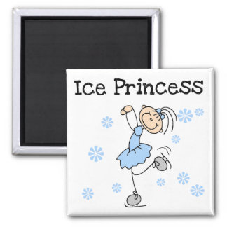 Princesa Tshirts y regalos del patinaje de hielo Imán Cuadrado