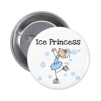 Princesa Tshirts y regalos del patinaje de hielo Pin Redondo 5 Cm