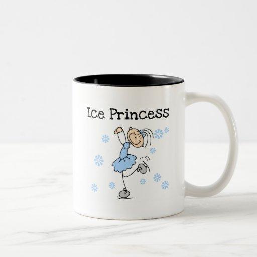 Princesa Tshirts y regalos del patinaje de hielo Tazas De Café
