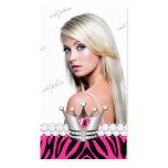 Princesa TT-Perfecta Pink Zebra Diamonds Tarjetas De Visita