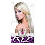 Princesa TT-Perfecta Purple Leopard Diamonds Plantilla De Tarjeta De Negocio