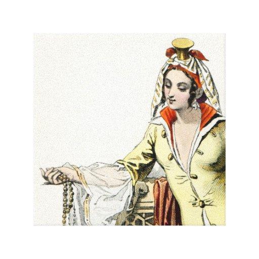 Princesa turca - moda del siglo XVII Impresiones En Lienzo Estiradas