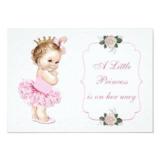 """Princesa Tutu Hearts y flores del vintage Invitación 5"""" X 7"""""""