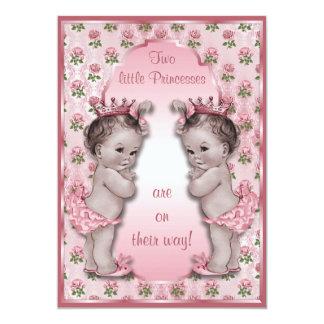 """Princesa Twins y fiesta de bienvenida al bebé Invitación 5"""" X 7"""""""