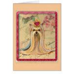 Princesa Valentine Gifts de Yorkie Felicitación