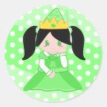 Princesa verde 2 pegatina