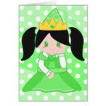 Princesa verde 2 tarjeta
