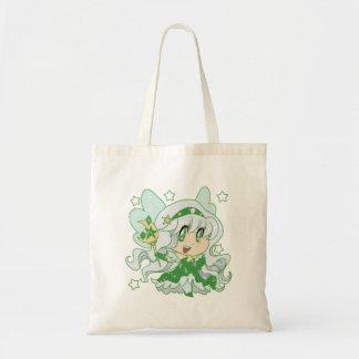 Princesa verde de la hada de la luna bolsa