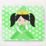 Princesa verde Mousepad Tapetes De Ratón