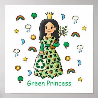 Princesa verde póster
