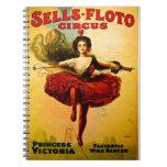 Princesa Victoria del circo del bailarín del alamb Cuaderno