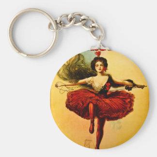 Princesa Victoria del circo del bailarín del alamb Llaveros Personalizados