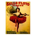 Princesa Victoria del circo del bailarín del alamb Postales
