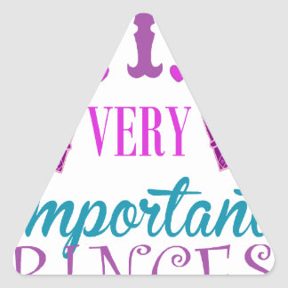 Princesa, VIP Pegatina Triangular